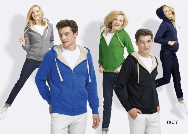 """SOL`S SHERPA UNISEX ZIPPED JACKET WITH """"SHERPA"""" LINING - Pulóver - Termékeink…"""