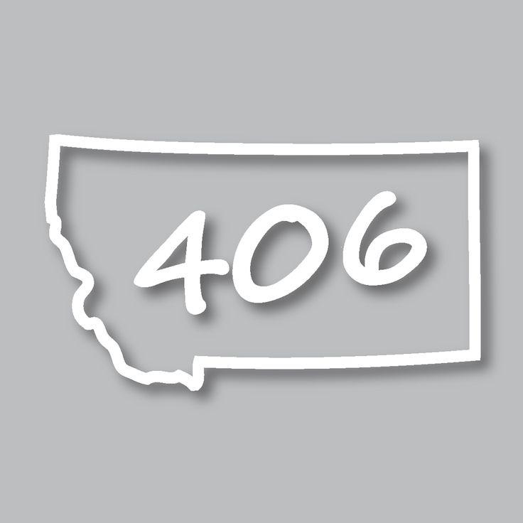 Montana 406 diecut sticker