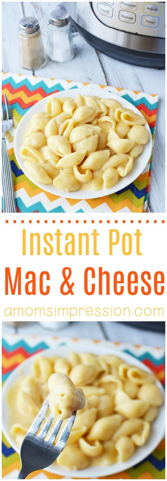 I've searched long and hard for the best and most creamy Instant Pot Mac  and Cheese Recipe and here it is! This simple recipe is so easy and can  be made in about 15 minutes. It uses evaporated milk and your kids are  going to love it! #macandcheese #instantPot #pressurecooker
