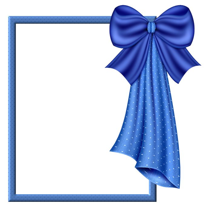 Blue Transparent Frame with Big Blue Bow