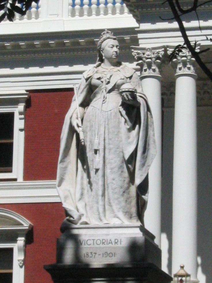 Queen Victoria - Outside the Parliament Building, Cape Town, South Africa.