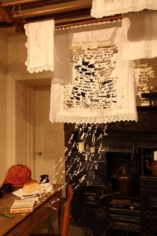 Sue Blackwell  The Kitchen. Installation at the Bronte Parsonage Museum, Haworth, 2010