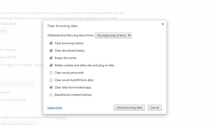 Press Alt Ctonrol and Delete to Bring Up Chrome Browser History Cleaner Tool