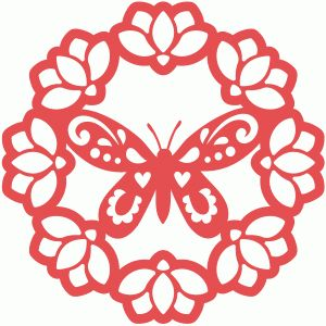 View Design #58066: magnolia butterfly doily