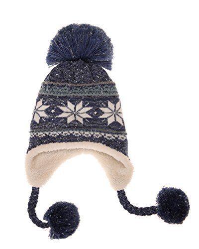 7e464e502a280 Dosoni Women Girl Winter Hats Knit Soft Warm Earflap Hood Cozy Large  Snowflake  Doesnotapply