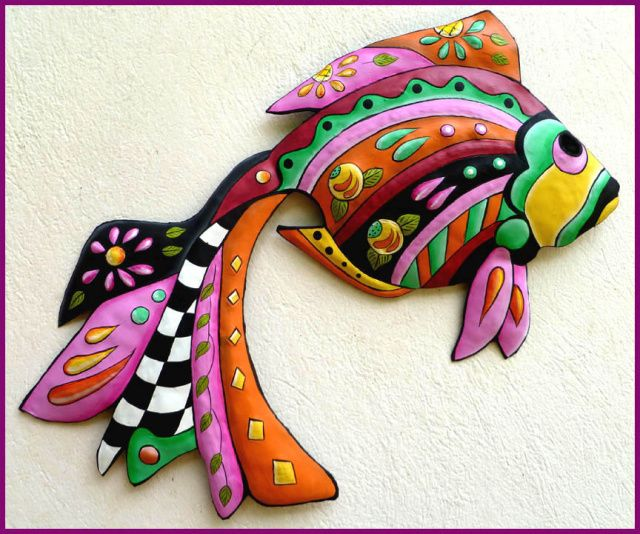 Tropical Metal Wall Art 219 best tropical fish designs - painted metal home decor