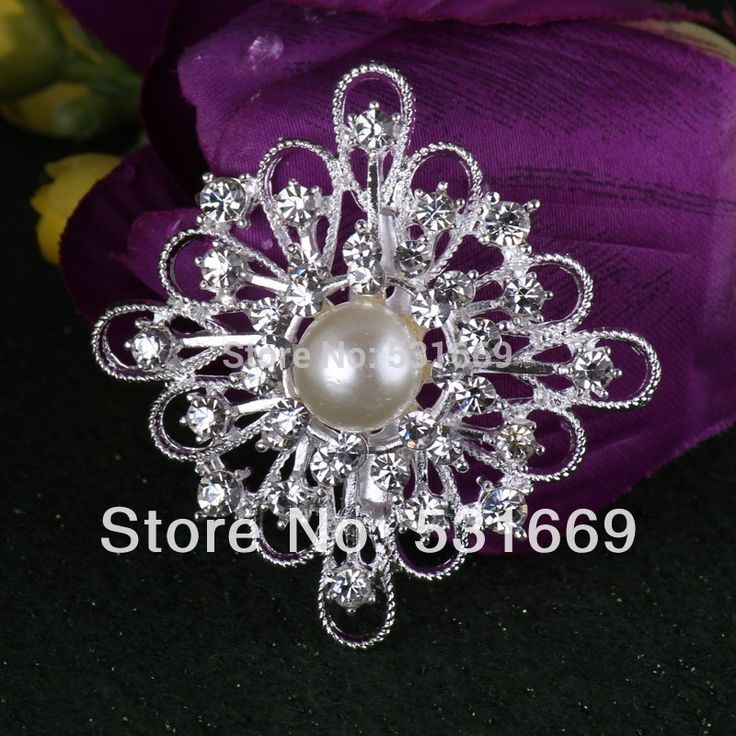 Find More Brooches Information about 2014 fashion Cheap Silver whirl Crystal Flower Rhinestone Women Brooches for wedding B304,High Quality Brooches from Gem-Mart Store on Aliexpress.com