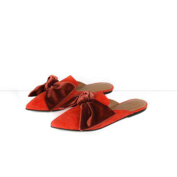 Flattered x Linda | Red suede Slip-in