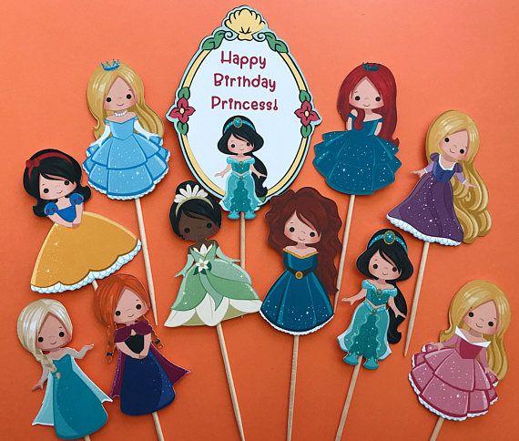 Disney Princess cupcake toppers 10 Disney princesses inspired