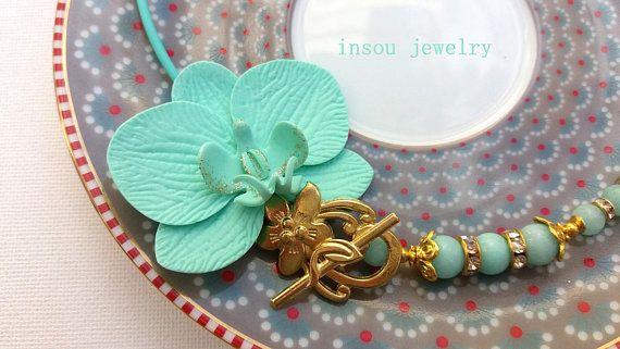 Mint Necklace Orchid Necklace Jade Necklace Statement