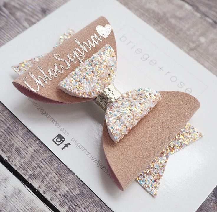 A personal favourite from my Etsy shop https://www.etsy.com/uk/listing/555611240/personalized-hair-bow-birthday-gift