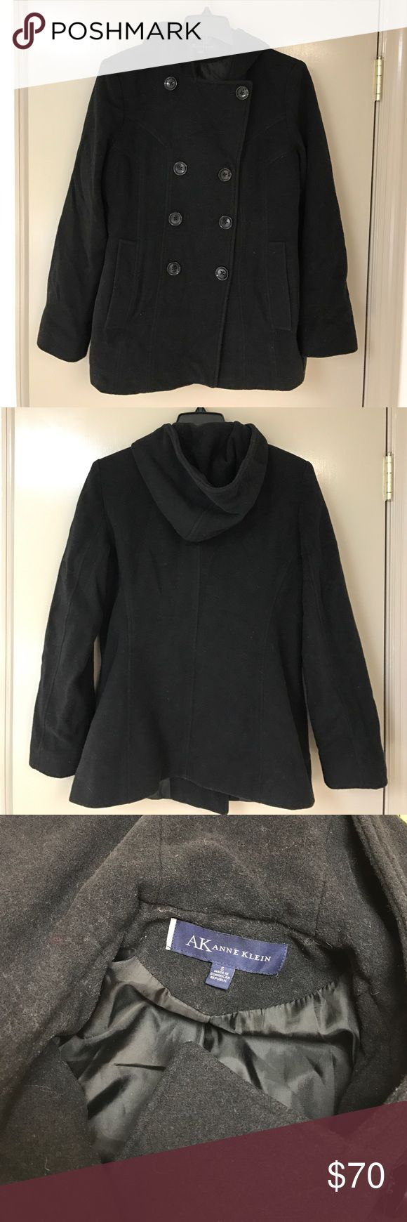 Anne Klein Peacoat 💋 Anne Klein, black Peacoat. EUC, worn only a handful of times. Just have too many things and. I time to wear this. Downsizing closet and everything go 🎀 Anne Klein Jackets & Coats Pea Coats