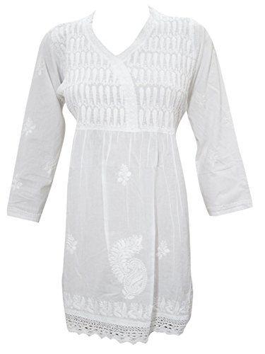 Mogul Interior Womens White Tunic Top Cotton Hand Embroid... https://www.amazon.co.uk/dp/B01NAWJ4OR/ref=cm_sw_r_pi_dp_x_GiFtzbR046SPY