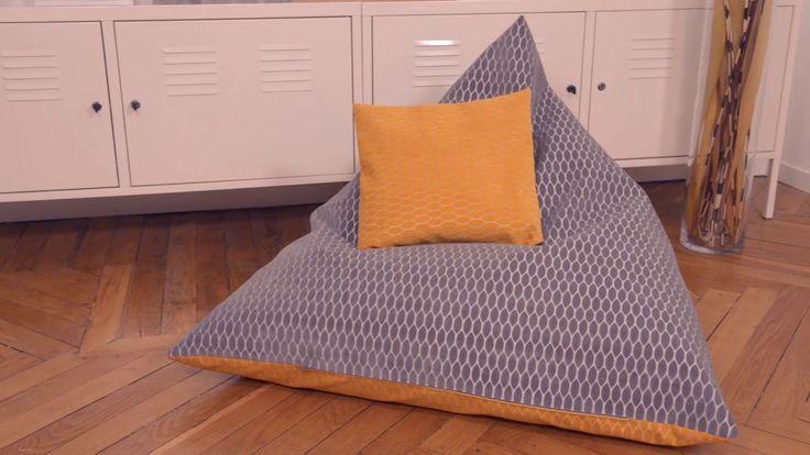 Tutoriel DIY : Fabriquer un pouf triangulaire en 90 minutes avec Mondial Tissus