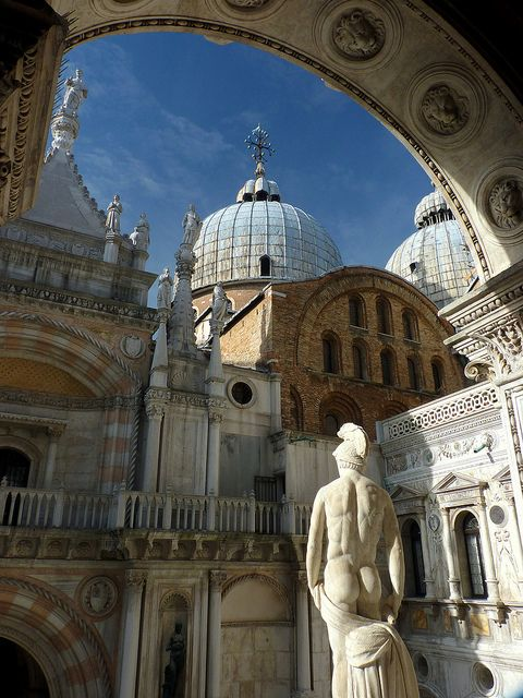 The Doge's Palace (Italian: Palazzo Ducale) is a palace built in Venetian Gothic style, and one of the main landmarks of the city of Venice, Italy. The palace was the residence of the Doge of Venice, the supreme authority of the Republic of Venice, opening as a museum in 1923.