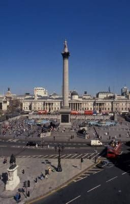 Trafalgar Square...walked through it very quickly to get to the bus. I would like to actually see it