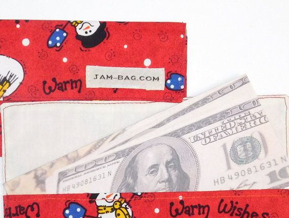 Snowman Fabric Cash Envelope - Great School Kid Gift  - Cash Envelope System, budget envelopes, fabric cash envelope, cash -----------------------------------------------------------------  Its just nice to have something like this when you keep some cash in your house, in the drawer or in the inner pocket of your bag. This is a perfect accompany for cash budgeting.  There is no closure, no snaps no zipper. - Do not use as a wallet. Its a cash budget envelope for travel and everyday living…