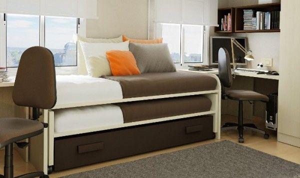 M s de 1000 ideas sobre camas para ahorrar espacio en for Camas triples juveniles