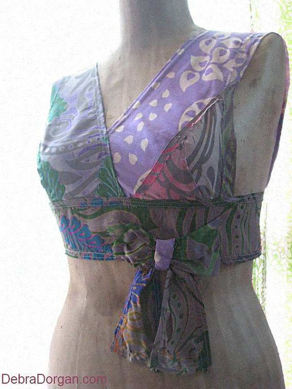 Festival crop top, Electric Daisy Bohemian gypsy crop top halter, Boho chic, All Things Pretty