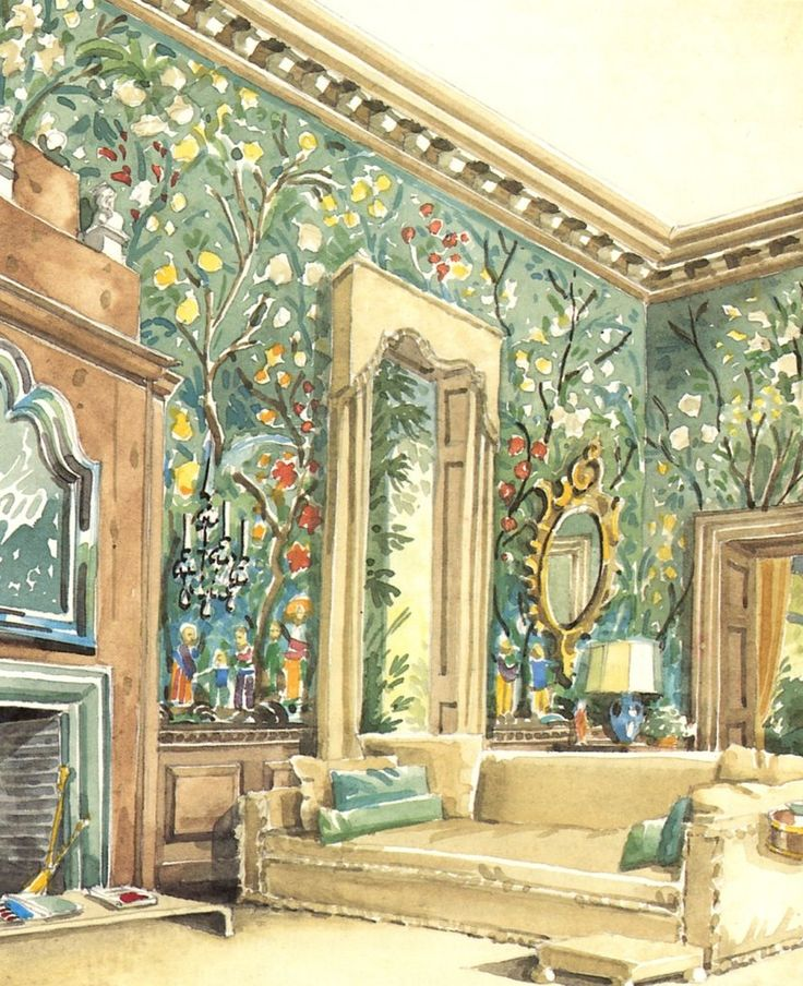 Mark Hampton - Design - Interior Illustration - Mark D. Sikes: Chic People, Glamorous Places, Stylish Things