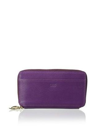 46% OFF Tusk Women's Double Zip Clutch Wallet, Plum