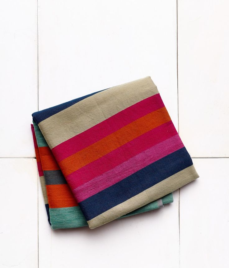 <p>Super soft and lightweight, the richly colored blankets from the design team Jamey Garza and Constance Holt-Garza are brightly modern with a down-to-earth feel. Perfect for the foot of your bed, or draped over a chair, daybed, or couch. They're lightweight enough to use as a throw or travel blanket, or even as a shawl. Made with 90% Wool and 10% Cotton. Dry clean only. Designed in Marfa, TX, and made in India.</p>