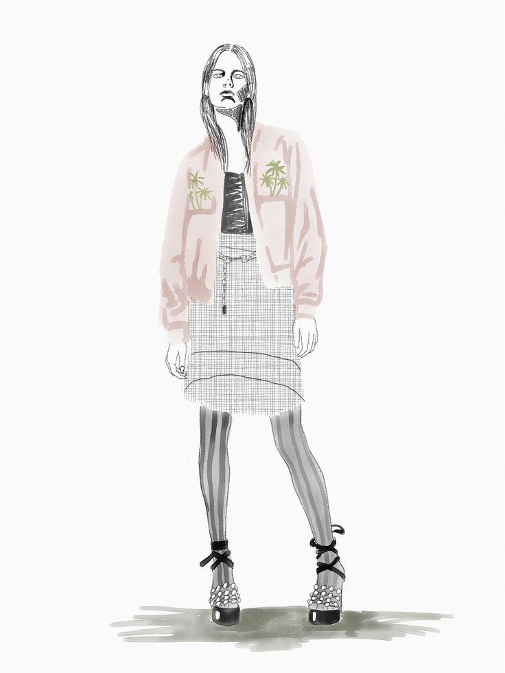 Fashion illustration #alexanderwang watercolor and pencil #ipad #ipencil #fashionillustration @theheadhunt #theheadhunt