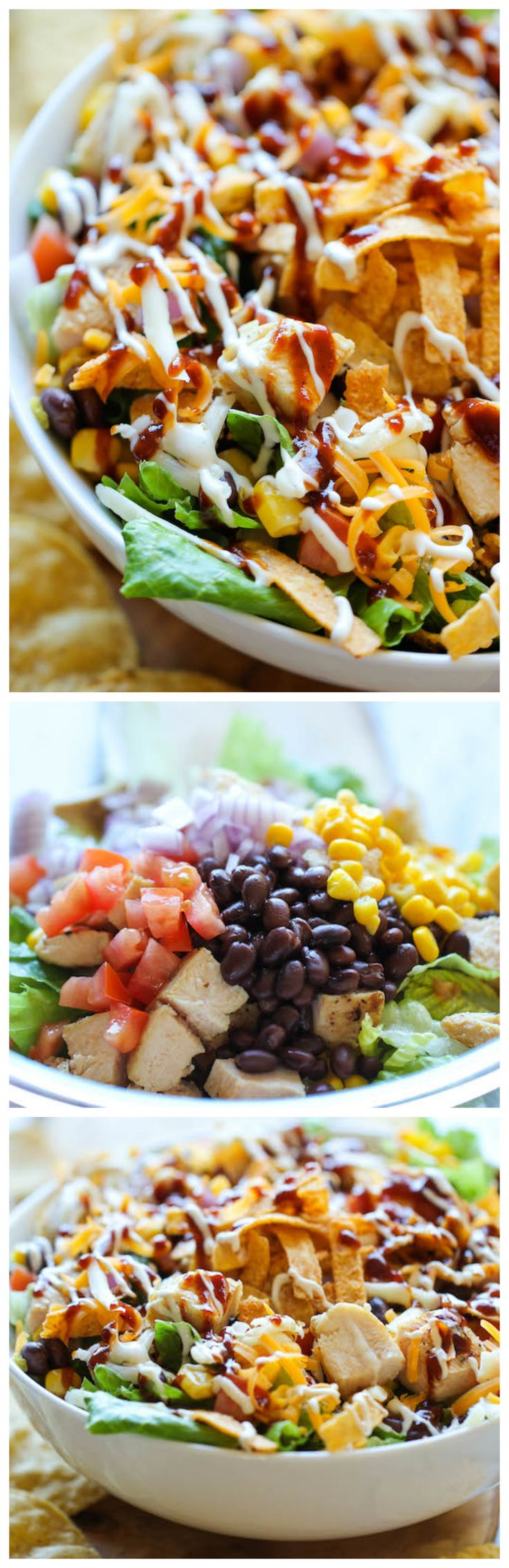 BBQ Chicken Salad - This healthy, flavorful salad comes together so quickly, and its guaranteed to be a hit with your entire family!