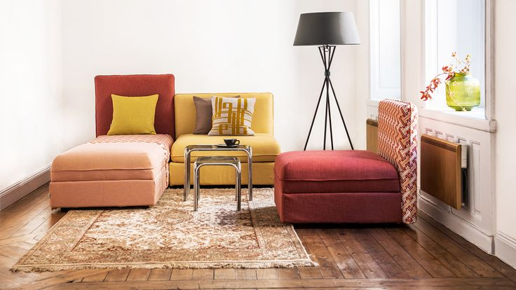 Read our review for stunning photos and ideas to personalize your modular/sectional IKEA Vallentuna sofa. Recycle. Upcycle. Make it your own with Bemz slipcovers.
