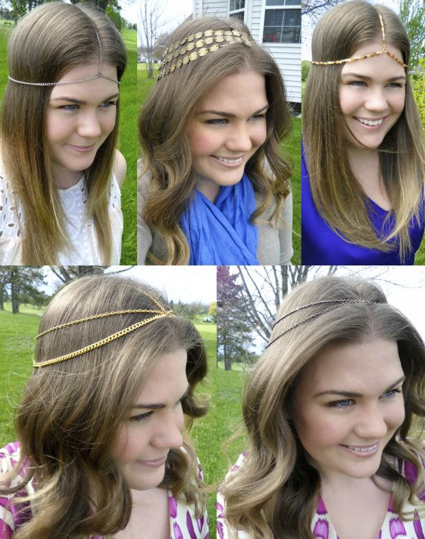 DIY House of Harlow Headpieces - How to Make Your Own Headpiece Chain Wrap