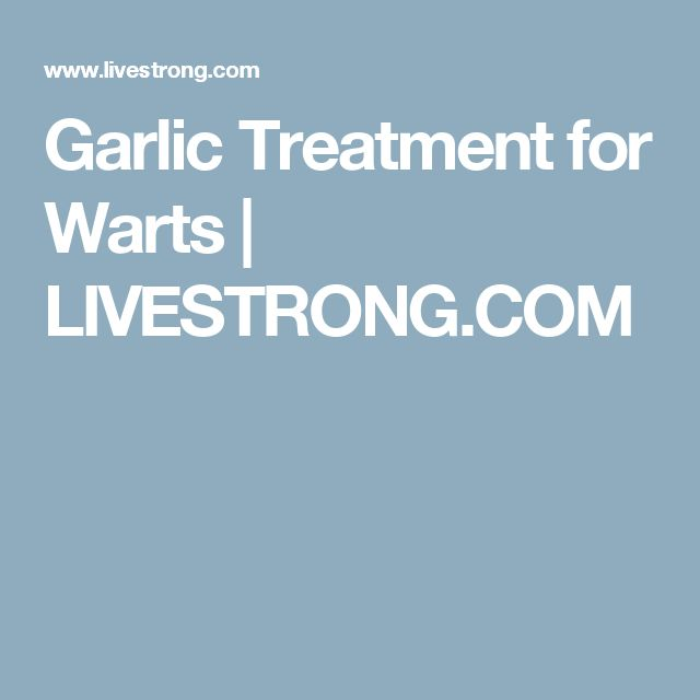 Garlic Treatment for Warts | LIVESTRONG.COM