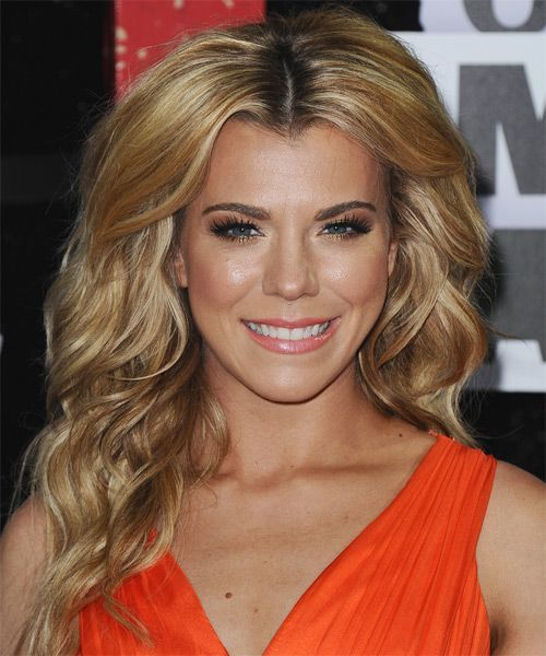 Kimberly Perry Long Wavy Casual Hairstyle  Dark Golden Blonde Hair Color with Li…