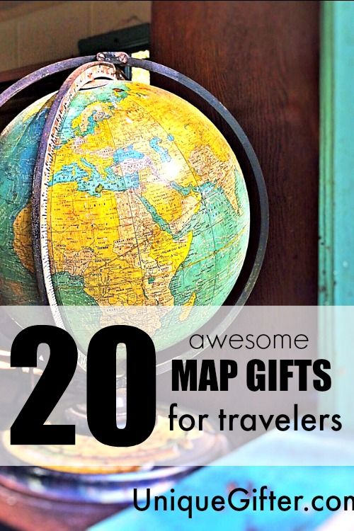 20 Awesome Map Gifts for Travelers