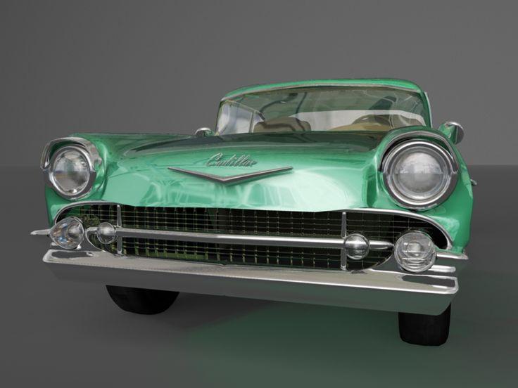 vintage Cadillac 3D