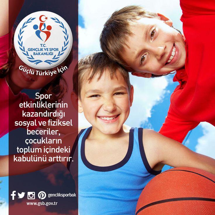 Spor etkinliklerinin kazandırdığı sosyal ve fiziksel beceriler, çocukların toplum içindeki kabulünü artırır.