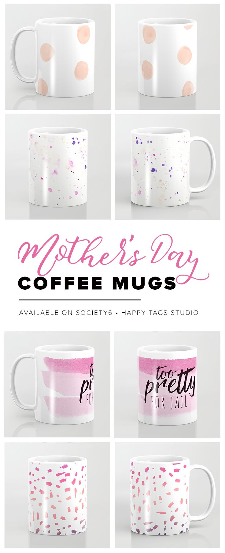 Get mom something she always needs more of--coffee mugs! Choose one of the unique designs to brighten up her morning routine. Even better, pair one of these awesome mugs with a pound of her favorite fresh ground coffee for the perfect mother's day gift combo!  #gift #mother #mom #mama #pink #mothersday #holiday #love #lovemom #present #buy #coffee #mug