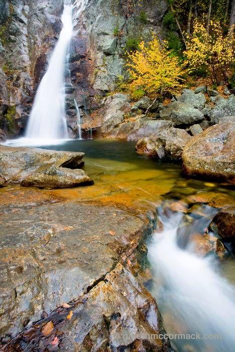 Glen Ellis Falls, White Mountains, New Hampshire, USA. Stock Photo