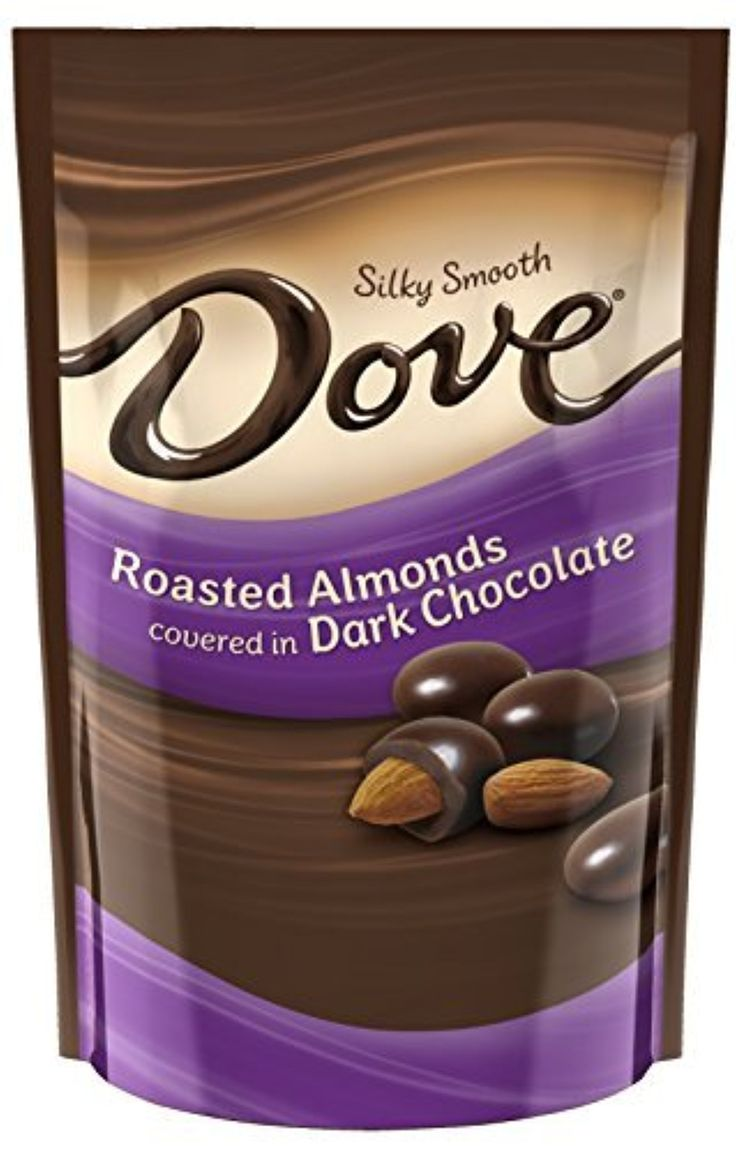 DOVE Dark Chocolate Almond Candy 4.5-Ounce Bag (Pack of 6) by Mars ...