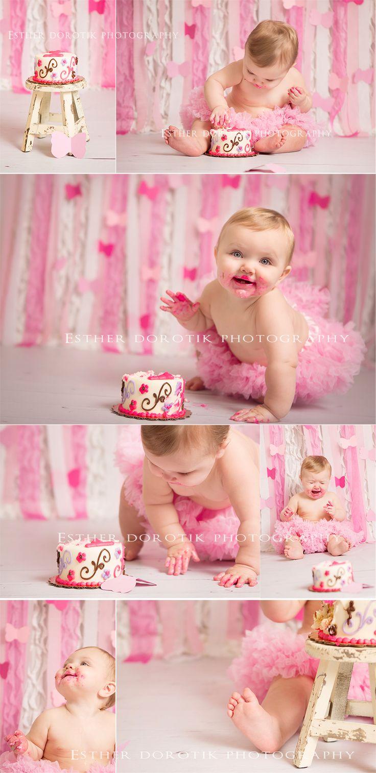 one year old photography, cake smash photography, one year old girl, baby photography, baby pictures