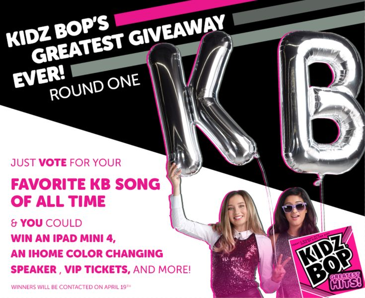 Just vote for your favorite KB Songs of all time and you could win an iPad Mini 4, an iHome Color Changing Speaker, VIP Tickets and more!