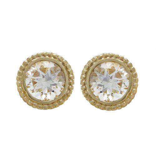 14KY TESSA EARRINGS WITH WHITE TOPAZ   Penwarden Fine Jewellery - Jewelry - Jewelers Toronto Ontario GTA