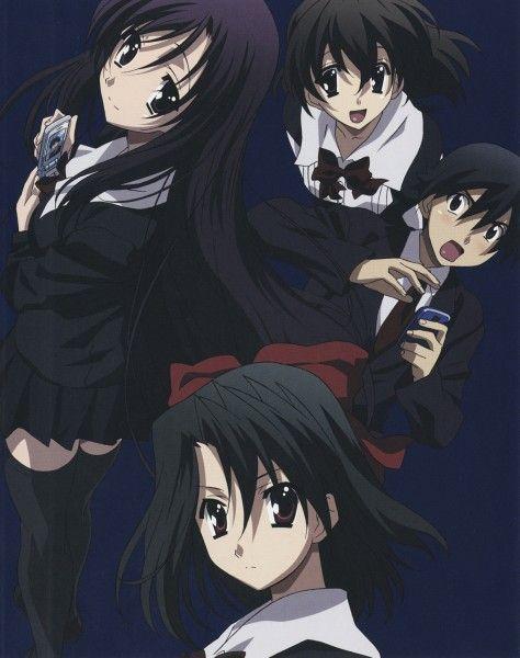 Tags: Anime, School Days, Cellphone, Phone, Blue Background, Saionji Sekai, Itou Makoto