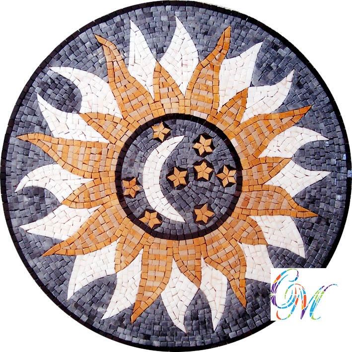 MD058 Marble Mosaic Medallion