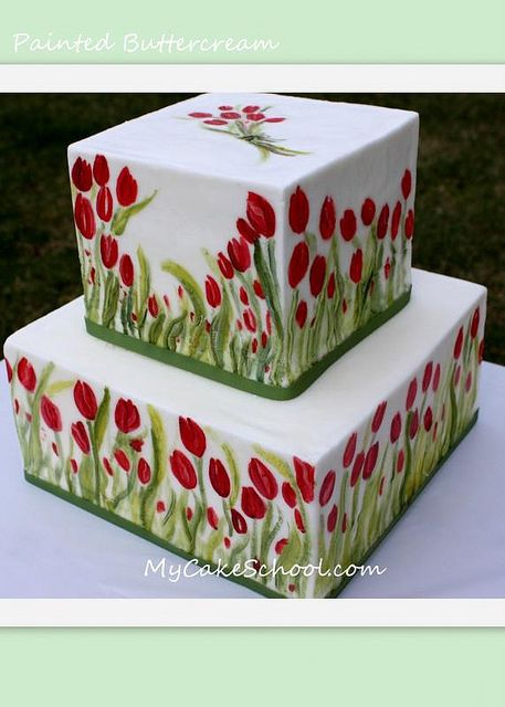 Painted Buttercream Cake