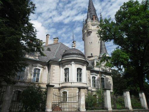 Bożków Castle (german: Eckersdorf), then called Ekkehardisdorf (Latin Eckardi Villa), Klodzko region, southwestern Poland, Sudety mountains.