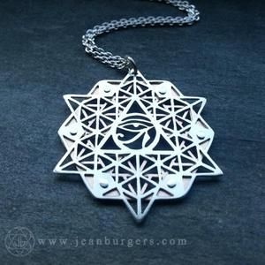 64 Tetrahedron Grid Pendant - Eye of Ra