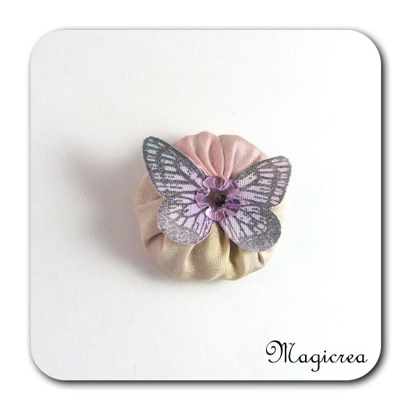 FLEUR PAPILLON SOIE - LAVANDE - FP6 - Boutique www.magicreation.fr