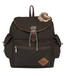 Buy Pick Pocket Taned Canvas Back pack  with PU trims backpack online
