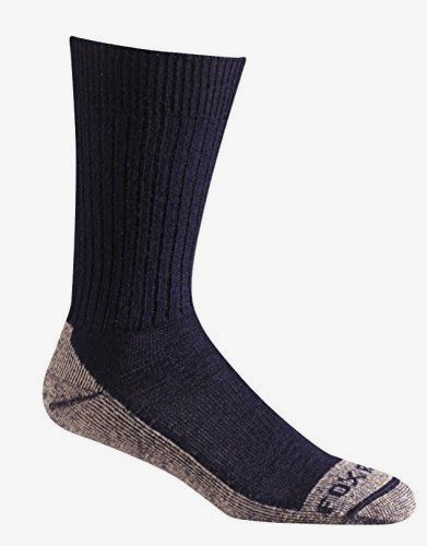 Fox River #Everyday Bilbao Crew #Medium Weight Merino Wool Socks, Navy, Medium Made by #Fox River Color #Navy. Reinforced toe and heel add comfort and longer product life; Proudly Made in the USA. Soft Merino wool keeps you itch-free while drawing moisture away from the skin. Spandex compression arch holds Form and provides support. Fully cushioned sole absorbs Shocks, insulates, and provides all day comfort. Proudly made in the USA