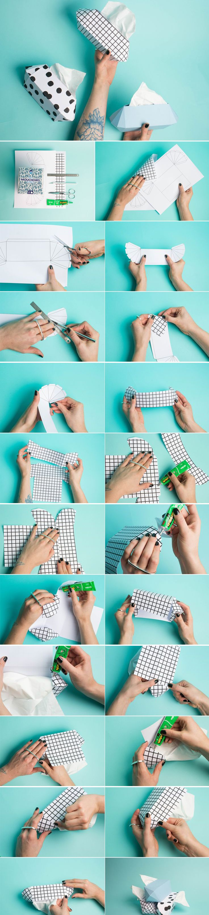 DIY Tissue Holder Tutorial with FREE Printable Template